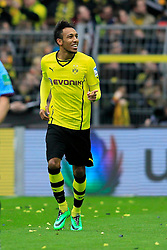 15.02.2014, Signal Iduna Park, Dortmund, GER, 1. FBL, Borussia Dortmund vs Eintracht Frankfurt, 21. Runde, im Bild Pierre-Emerick Aubameyang (Borussia Dortmund #17) gut gelaunt am Lachen, Emotion, Freude, Glueck // during the German Bundesliga 21th round match between Borussia Dortmund and Eintracht Frankfurt at the Signal Iduna Park in Dortmund, Germany on 2014/02/15. EXPA Pictures © 2014, PhotoCredit: EXPA/ Eibner-Pressefoto/ Schueler<br /> <br /> *****ATTENTION - OUT of GER*****