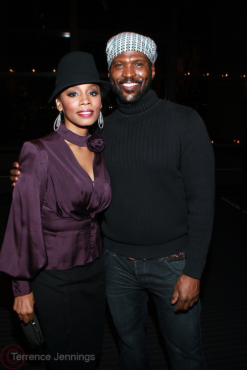 11 February 2011- New York, NY- l to r: Anika Noni Rose and Byron Lars at the Bryon Lars 'Native Americana' Fall 2011 Presentation held during Mercedes-Benz Fashion Week at Lincoln Center on February 11, 2011 in New York City. Photo Credit: Terrence Jennings/Ebony.com