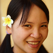 Portrait of a masseuse at the Zen Spa in Hanoi, Vietnam.