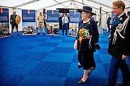 Prinses Beatrix is op vrijdag 24 oktober 2014 bij Paleis Het Loo in Apeldoorn