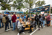 Queens, NY - October 2, 2016. Diners at The Feastival of Queens at The Meadows at Citi Field.