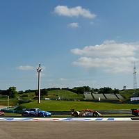 Companc/Russo-AF Corse Ferrari F430 GT (94); Belicchi/Boullion- Rebellion Lola B10/60 (13); Lieb/Lietz-Felbermayr Porsche 997 GT3 RSR (77); Dumbreck/Coronel-Spyker Squadron Spyker C8 Laviolette GT2-R (85), Le Mans Series 1000 Kilometres Hungaroring 2010