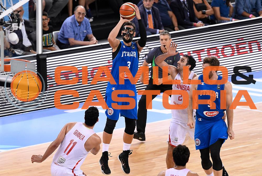 DESCRIZIONE: Torino FIBA Olympic Qualifying Tournament Italia - Tunisia<br /> GIOCATORE: MARCO BELINELLI<br /> CATEGORIA: Nazionale Italiana Italia Maschile Senior<br /> GARA: FIBA Olympic Qualifying Tournament Italia - Tunisia<br /> DATA: 04/07/2016<br /> AUTORE: Agenzia Ciamillo-Castoria
