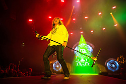 © Licensed to London News Pictures . 15/12/2015 . Manchester , UK . DAVID COVERDALE . Whitesnake perform at the Manchester Arena . Photo credit : LNP
