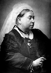 A portrait of Queen Victoria (1819-1901),  Queen of United Kingdom, Empress of India. c1890. She married Prince Albert of Saxe-Coburg-Gotha in 1840. Her sense of vocation did much to restore the prestige of the British monarchy.