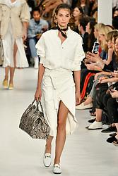 model on the catwalk at Tod's Fashion Show at Milan Women's Fashion Week