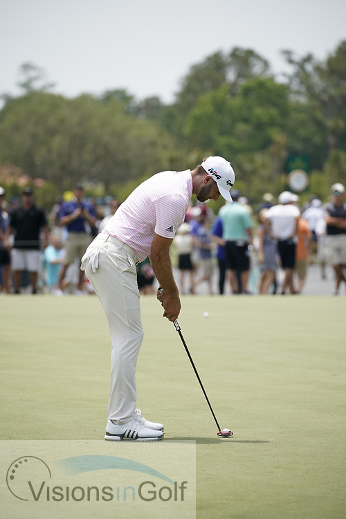Dustin Johnson<br /> Putting Swing Sequence<br /> Putter <br /> May 2018<br /> Pictures Credit: Mark Newcombe/visionsingolf.com