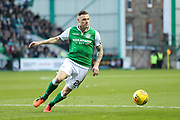 Anthony Stokes (#28) of Hibernian in action during the Ladbrokes Scottish Premiership match between Hibernian and Ross County at Easter Road, Edinburgh, Scotland on 23 December 2017. Photo by Craig Doyle.