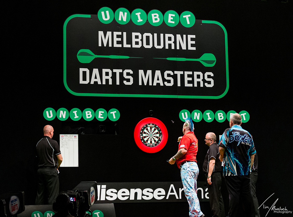 MELBOURNE, Australia - Sunday 20 August 2017:  The final of the Unibet Melbourne Dart Masters at Hisense Arena on Sunday 20 August 2017.<br /> <br /> Photo Credit: Tim Murdoch/Tim Murdoch Photography