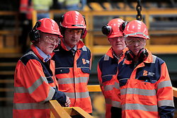 © Licenced to London News Pictures. 07/07/2017. Labour Party Leader Jeremy Corbyn (L) during his visit to the British Steel plant in Skinningrove on Teesside. Photo credit: Stuart Boulton/LNP