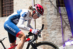 Clara Koppenburg (GER) of Cervélo-Bigla Cycling Team rides near the top of the final climb of Stage 5 of the Giro Rosa - a 12.7 km individual time trial, starting and finishing in Sant'Elpido A Mare on July 4, 2017, in Fermo, Italy. (Photo by Balint Hamvas/Velofocus.com)