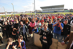 The crowd in the sportsground gathered in for the presentation of the junior Cup.<br /> Pic Conor McKeown