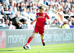 NEWCASTLE-UPON-TYNE, ENGLAND - Sunday, April 1, 2012: Liverpool's John Flanagan in action against Newcastle United during the Premiership match at St James' Park. (Pic by David Rawcliffe/Propaganda)