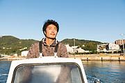 Ryo Wakabayashi of Sumaura Suisan farms in the Suma area of Kobe