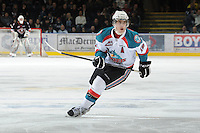 KELOWNA, CANADA, FEBRUARY 17: Brett Bulmer #19 of the Kelowna Rockets skates on the ice against the Calgary Hitmen at the Kelowna Rockets on February 17, 2012 at Prospera Place in Kelowna, British Columbia, Canada (Photo by Marissa Baecker/Shoot the Breeze) *** Local Caption ***