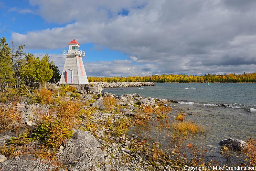Lighthouse on Lake Huron at South Baymouth, Manitoulin Island, Ontario, Canada