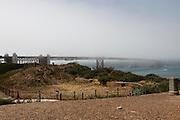 Fog covers the Golden Gate Bridge in San Francisco, California. (Photo by Brian Garfinkel)
