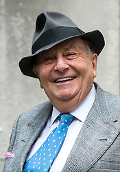 © London News Pictures. 05/03/2016. London, UK. BARRY HUMPHREYS  attends a ceremony to mark the wedding of Rupert Murdoch and Jerry Hall held at St Brides Church on Fleet Street,  central London on February 05, 2016. . Photo credit: Ben Cawthra /LNP