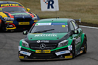 #15 Tom Oliphant Ciceley Motorsport Mercedes-Benz A-Class during BTCC Race 1  as part of the Dunlop MSA British Touring Car Championship - Rockingham 2018 at Rockingham, Corby, Northamptonshire, United Kingdom. August 12 2018. World Copyright Peter Taylor/PSP. Copy of publication required for printed pictures.