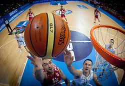Official Molten ball during basketball match between National teams of Slovenia and Croatia in Round 1 at Day 5 of Eurobasket 2013 on September 8, 2013 in Arena Zlatorog, Celje, Slovenia. (Photo by Vid Ponikvar / Sportida.com)