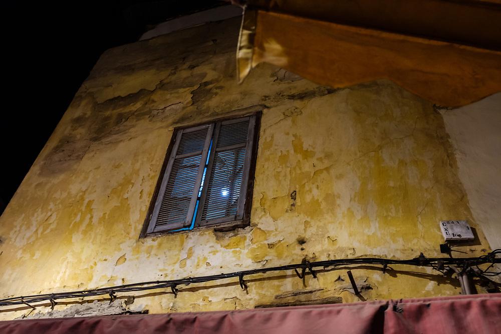 CASABLANCA, MOROCCO - CIRCA APRIL 2017: Alleyway of the Medina in  Casablanca at night