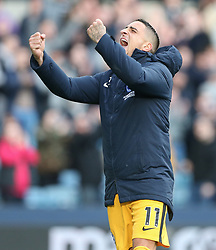 Anthony Knockaert of Brighton and Hove Albion celebrates as Brighton win on penalties - Mandatory by-line: Arron Gent/JMP - 17/03/2019 - FOOTBALL - The Den - London, England - Millwall v Brighton and Hove Albion - Emirates FA Cup Quarter Final