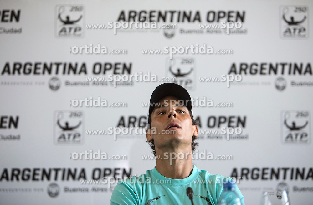 Spanish tennist Rafael Nadal attends a press conference in Buenos Aires, Argentina, Feb. 23, 2015. Nadal will take part in the 2015 ATP Argentina Open tennis tournament starting on Tuesday. EXPA Pictures &copy; 2015, PhotoCredit: EXPA/ Photoshot/ Martin Zabala<br /> <br /> *****ATTENTION - for AUT, SLO, CRO, SRB, BIH, MAZ only*****