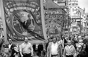 Kellingley Branch banner. 1993 Yorkshire Miner's Gala. Wakefield.