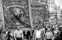 Kellingley Branch banner. 1993 Yorkshire Miner's Gala. Wakefield.