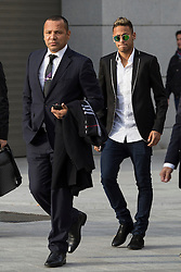 02.02.2016, National court, Madrid, ESP, Primera Division, FC Barcelona, Untersuchung Neymar Transfer, im Bild Neymar Jr. (FC Barcelona) und sein Vater Neymar Santos // FC Barcelona's player Neymar Jr. arrives with his father Neymar Santos (L) arrives to the national court to testify in an investigation into alleged irregularities regarding his transfer to Barcelona National court in Madrid, Spain on 2016/02/02. EXPA Pictures © 2016, PhotoCredit: EXPA/ Alterphotos/ Victor Blanco<br /> <br /> *****ATTENTION - OUT of ESP, SUI*****