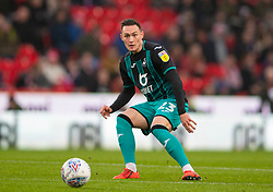STOKE-ON-TRENT, ENGLAND - Saturday, January 25, 2020: Swansea City's Connor Roberts during the Football League Championship match between Stoke City FC and Swansea City FC at the Britannia Stadium. (Pic by David Rawcliffe/Propaganda)
