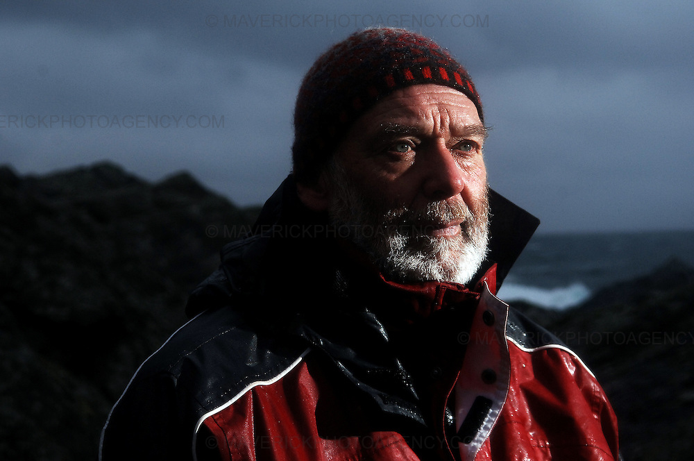 Englishman Stuart Hill, who set up home in Shetland after getting shipwrecked on its shores, believes that the Crown never gained full ownership of the islands, which were handed to Scotland by a Norwegian King in the 1400s in lieu of a dowry for a royal wedding.  ..He has taken ownership of a tiny Shetland island called Forewick Holm, renaming it Forvik and calling for it to be recognised as a Crown dependency - Shetland, Scotland, UK - 25th January 2009. ..Pic shows Stuart Hill