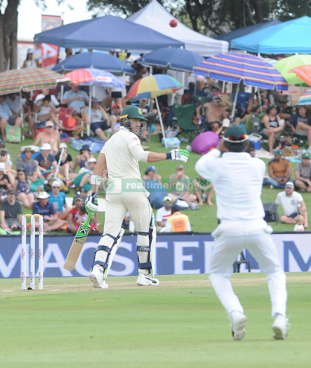 Pretoria 26-12-18. The 1st of three 5 day cricket Tests, South Africa vs Pakistan at SuperSport Park, Centurion. Day 1. Afternoon session. South African batsman Faf du Plessis (captain) looks back as he is caught by Pakistan's Babar Azam. Picture: Karen Sandison/African News Agency(ANA)