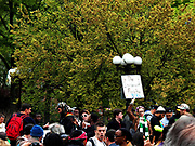 Cannabis Parade New York City. USA  2016.  The parade began in Herald Square at 34th Street with a march down Broadway to Union Square were a rally was held, over 400 people took part in the parade and rally, which was one of many taking place across the country today. Photo by Mark Apollo/Hashtag Occupy Media