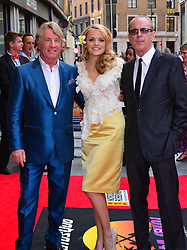 Bula Quo UK film premiere.  <br /> Rick Parfitt, Laura Aikman and Francis Rossi attend premiere of Status Quo action film featuring 12 of the rock band's classic tracks. Directed by former stunt co-ordinator Stuart St Paul, starring Jon Lovitz, Craig Fairbrass, Laura Aikman and the band members themselves. Released July 5. Odeon West End, London, United Kingdom.<br /> Monday, 1st July 2013<br /> Picture by Nils Jorgensen / i-Images