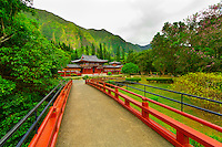 Byodo-In (Buddhist temple), Valley of the Temples, Kaneohe, Oahu, Hawaii, USA