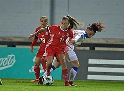 NEWPORT, WALES - Thursday, April 4, 2019: Wales' Natasha Harding during an International Friendly match between Wales and Czech Republic at Rodney Parade. (Pic by David Rawcliffe/Propaganda)