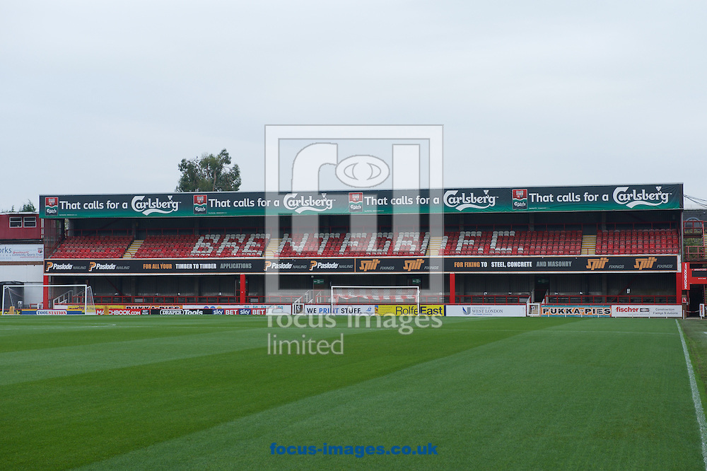 A general view of the stadium before the Sky Bet Championship match at Griffin Park, London<br /> Picture by Alan Stanford/Focus Images Ltd +44 7915 056117<br /> 03/11/2015