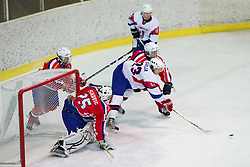 Urban Sodja of Slovenia  during the ice hockey match between National teams of Croatia (CRO) and Slovenia (SLO) at 2011 IIHF World U20 Championship Division I - Group B, on December 12, 2010 in Ice skating Arena, Bled, Slovenia.  (Photo By Vid Ponikvar / Sportida.com)