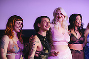 Finale of Unmentionable: A Lingerie Exhibition at the Mission Theater in Portland, OR. Feb. 8, 2017. Photo by Jason Quigley www.photojq.com