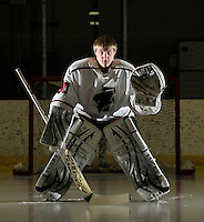 Fondy goalie Charlie Blagoue. Monday, February 4, 2013. Patrick Flood / The Reporter Media.