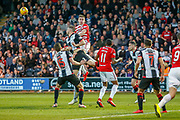 Mateo Muzek of St Mirren defending his sides slender lead  during the Ladbrokes Scottish Premiership match between St Mirren and Hamilton Academical FC at the Paisley 2021 Stadium, St Mirren, Scotland on 13 May 2019.