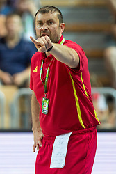 Luka Pavicevic, head coach of Montenegro, during friendly match between National teams of Slovenia and Montenegro for Eurobasket 2013 on August 23, 2013 in Arena Bonifika, Koper, Slovenia. (Photo by Matic Klansek Velej / Sportida.com)