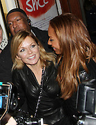 07.FEBRUARY.2013. LONDON<br /> <br /> MELANIE BROWN AND GERI HALLIWELL LEAVE THE PICADILLY THEATRE, LONDON<br /> <br /> BYLINE: EDBIMAGEARCHIVE.CO.UK<br /> <br /> *THIS IMAGE IS STRICTLY FOR UK NEWSPAPERS AND MAGAZINES ONLY*<br /> *FOR WORLD WIDE SALES AND WEB USE PLEASE CONTACT EDBIMAGEARCHIVE - 0208 954 5968*