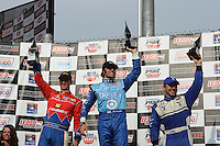 Dario Franchitti, Graham Rahal, Oriol Servia, Milwaukee 225, The Milwaukee Mile, Wisconsin State Fairgrounds, Milwaukee, WI USA 6/19/2001