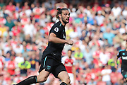 West Ham United striker Andy Carroll (9) during the Premier League match between Arsenal and West Ham United at the Emirates Stadium, London, England on 22 April 2018. Picture by Bennett Dean.
