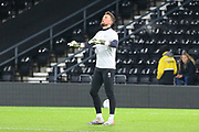 Derby County goalkeeper Ben Hamer warming up during the EFL Sky Bet Championship match between Derby County and Sheffield Wednesday at the Pride Park, Derby, England on 11 December 2019.