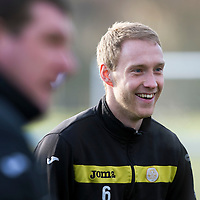 St Johnstone defender Steven Anderson pictured in training after signing a two year contract extension....31.01.12<br /> Picture by Graeme Hart.<br /> Copyright Perthshire Picture Agency<br /> Tel: 01738 623350  Mobile: 07990 594431
