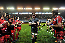 Stuart Hooper of Bath Rugby leaves the field after the match - Mandatory byline: Patrick Khachfe/JMP - 07966 386802 - 10/01/2016 - RUGBY UNION - Stade Mayol - Toulon, France - RC Toulon v Bath Rugby - European Rugby Champions Cup.