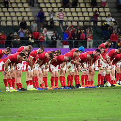 Wales bow to the crowd following the Rugby World Cup 2019 Quarter Final match between Wales and France on October 20, 2019 in Oita, Japan. (Photo by Dave Winter/Icon Sport) - Oita Stadium - Oita (Japon)